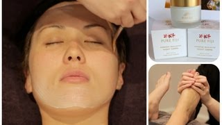 Facial with Mask Layering including how I do a foot massage