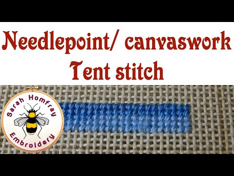 Tent Stitch in needlepoint / canvaswork embroidery
