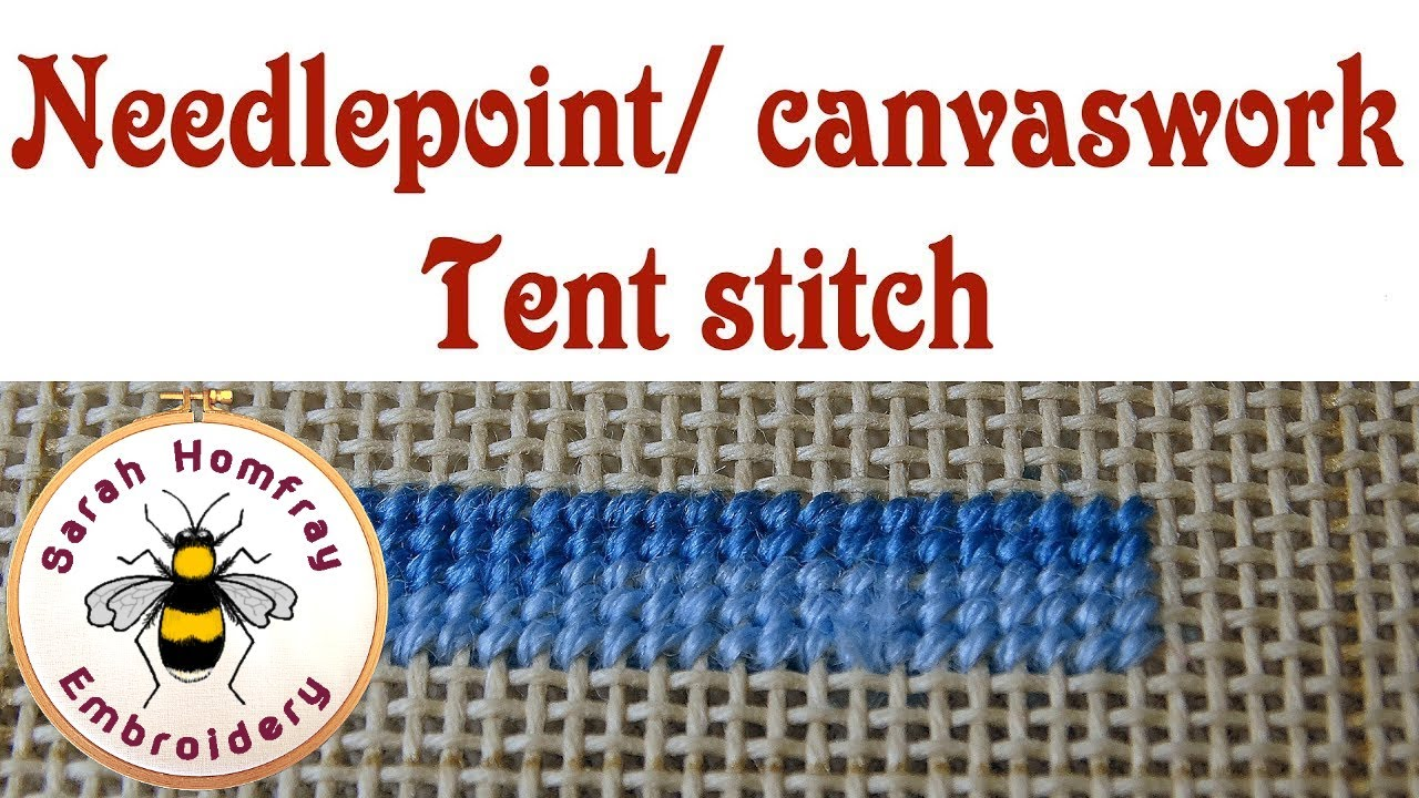 needlepoint stitches stitch diagrams ford 6 0 alternator wiring diagram tent for canvaswork embroidery youtube