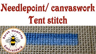 Tent stitch for needlepoint / canvaswork embroidery
