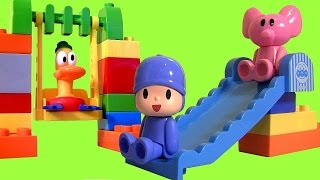 Pocoyo And Friends At The Park Building Blocks From Block Labo Parque De Pocoyó Con Tobogán Bloques