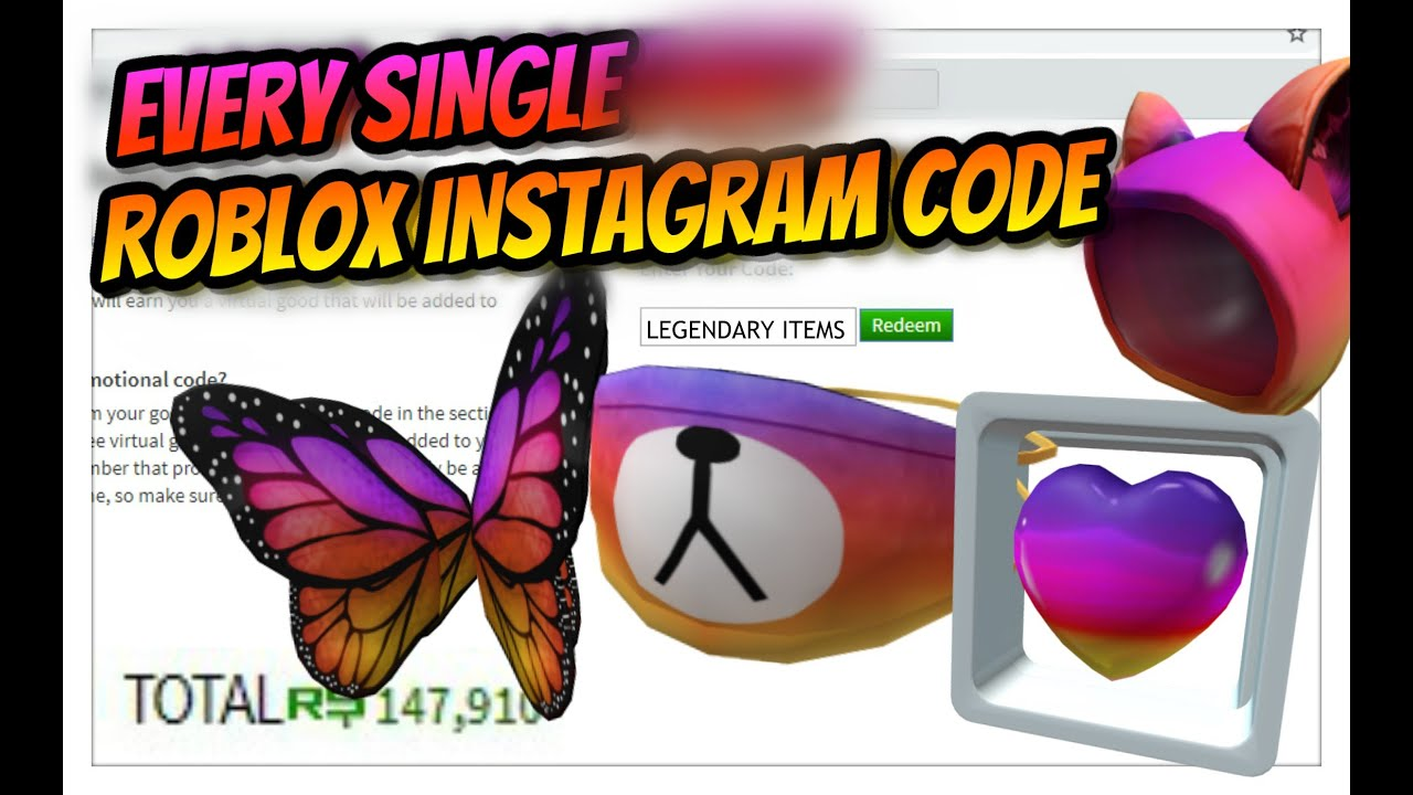 Roblox Instagram Codes Every New Roblox Instagram Promo Codes Instagram Roblox Event Codes Roblox Youtube