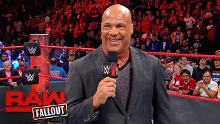 Kurt Angle thanks the WWE Universe after Raw goes off the air: Raw Fallout, Nov. 27, 2017