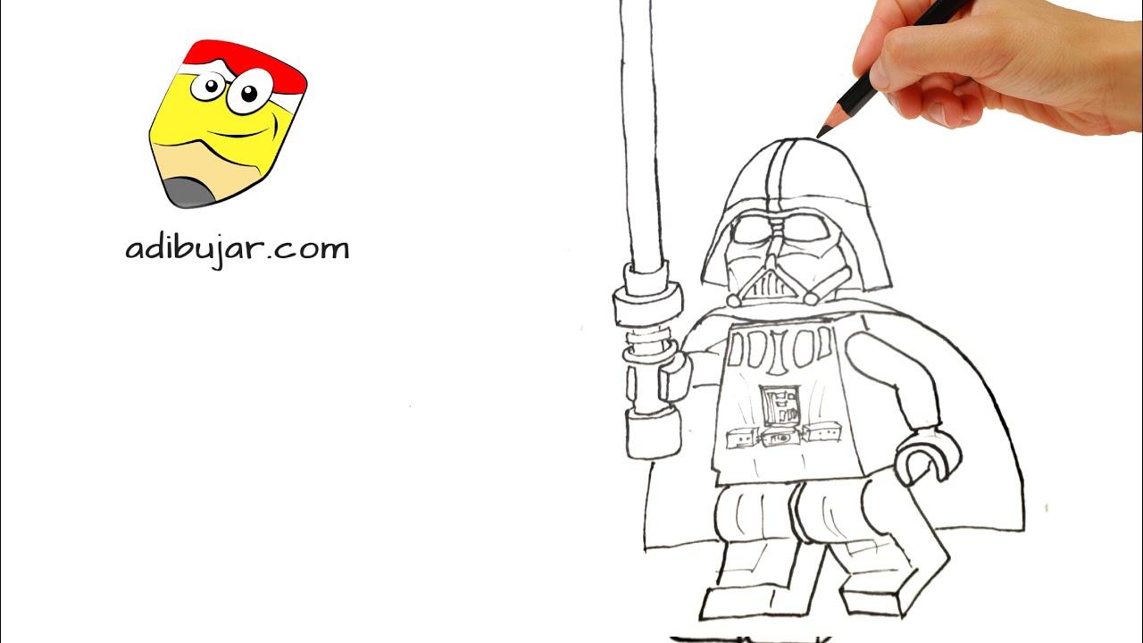 Cómo dibujar a Darth Vader lego - Starwars legos - YouTube