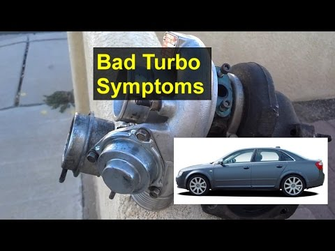 Bad turbo charger symptoms, smoking out the tail pipe, Audi A4, A3, A5, etc. - VOTD