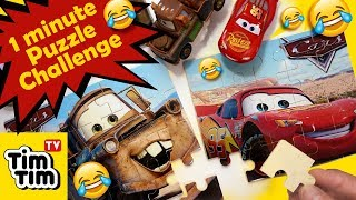 Puzzle Game Challenge | Disney Pixar Cars 3 Lightning McQueen Mater Sally Sheriff