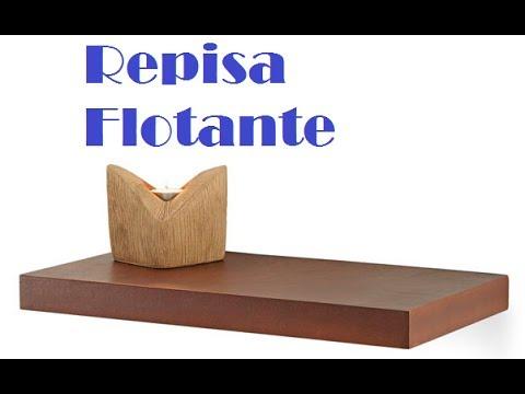Como hacer repisa flotante de madera 1 youtube - Como hacer repisas de madera ...
