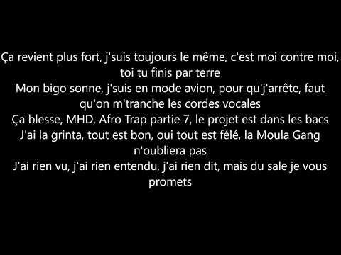 MHD - Afro Trap part7 (la puissance) parole/lyrics
