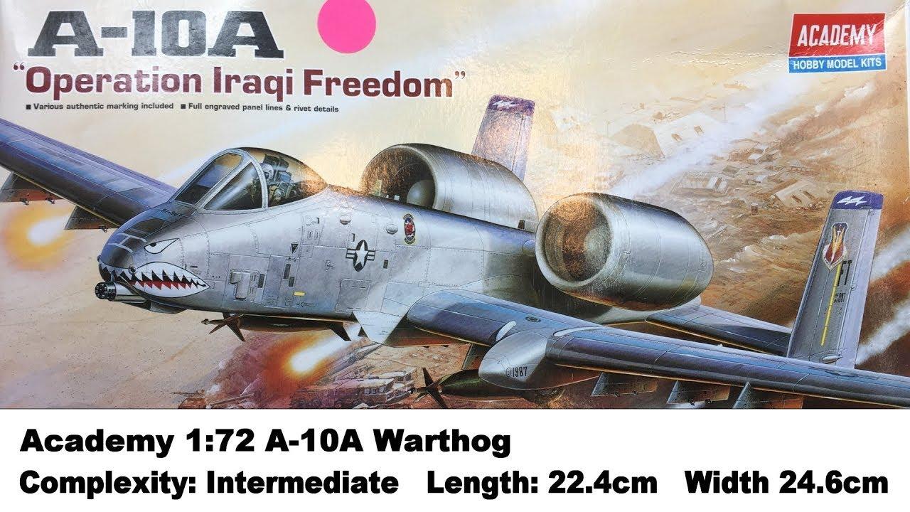 Academy 1652 1:72 A-10A Warthog A10 Kit
