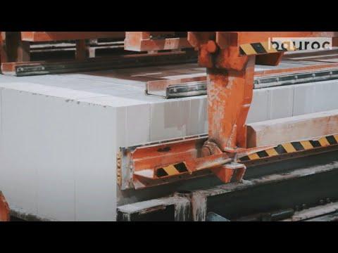 Bauroc gāzbetona izstrādājumu ražošanas process