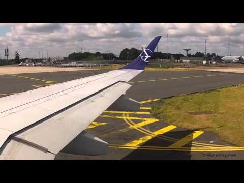 LOT Polish Airlines flight LO332 (Paris - Warsaw) E195