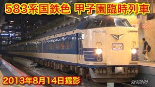 【JR東日本 583系国鉄色 甲子園臨時列車 2013.8.14】