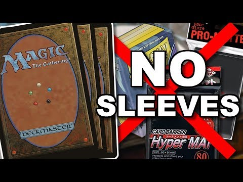 MTG - How to Shuffle Unsleeved Cards Without Bending!