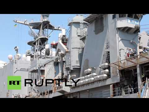 Ukraine: USS Ross and USS Whidbey Island join Sea Breeze 2016 drills in Odessa
