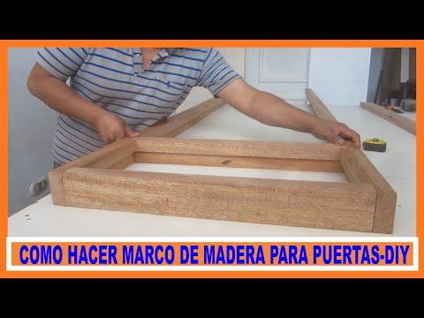 Como hacer marco de madera para puertas contraplacadas for Como hacer una puerta de tambor