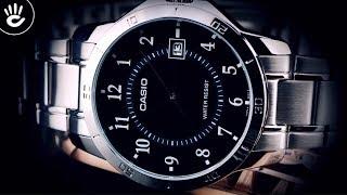Review Đồng Hồ Casio MTP-V004D-1BUDF cọc số học trò tone trắng thời trang trên nền mặt đen