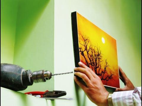 Ganchos c mo colgar un cuadro en la pared - Como colgar un cuadro sin taladrar ...
