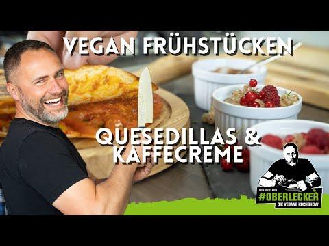 Perfekt vegan Frühstücken mit Kaffeemouse und herzhaften Quesedillas.