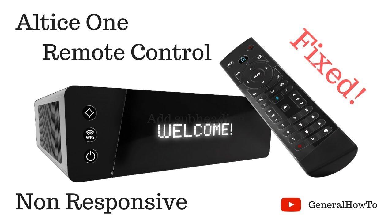 Altice One Remote Control Non Responsive