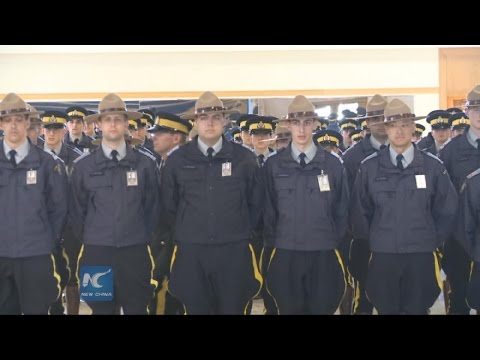 RAW: Newbie royal Mounties in drill session