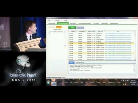 BlackHat 2011 - Pulp Google Hacking