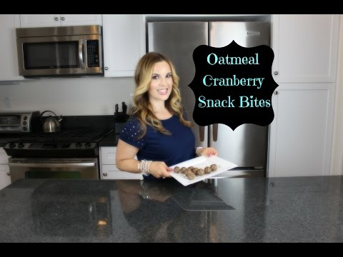 Oatmeal Cranberry Snack Bites