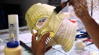 Darth Vader Helmet Part 2 (Strengthing the Paper) - Craft Dad