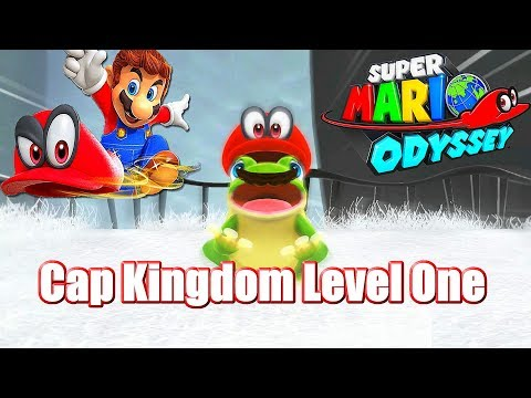 Super Mario Odyssey Cap Kingdom L1 (T-REX, Frogs, Sparks, Silly Chain Chomp Chomps)