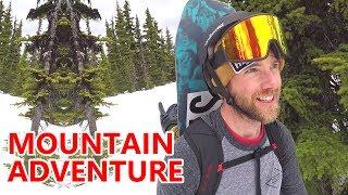Epic Mountain Hike & Snowboarding Adventure