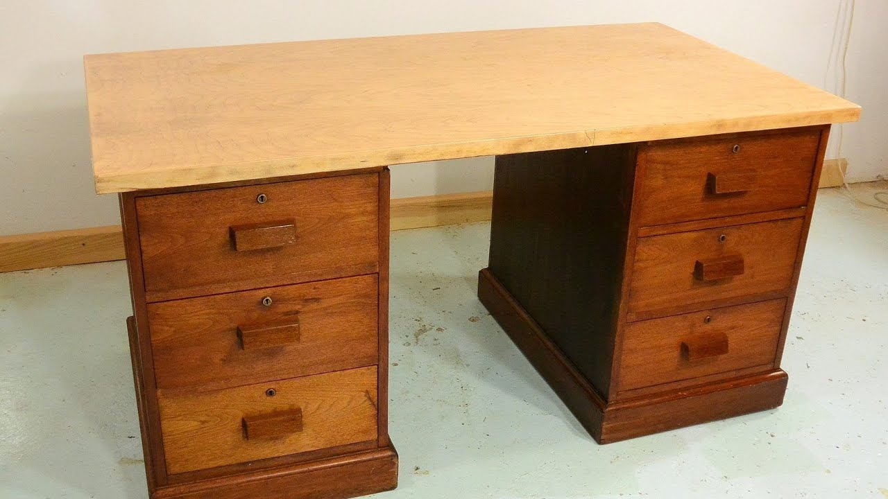 Trash to treasure Antique desk drawers  YouTube