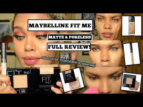 MAYBELLINE FIT ME Matte & Poreless (Loose Powder, Setting Powder, Concealer, Foundation)