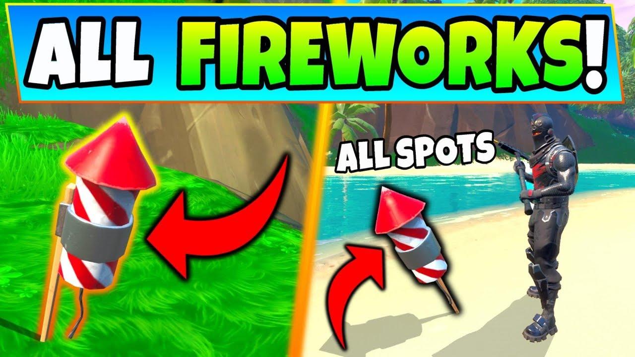 Fortnite 14 Days of Summer Challenge: Launch Fireworks Along