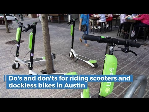 Do's And Don'ts For Riding Scooters, Dockless Bikes In Austin
