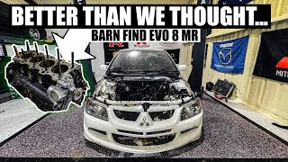 homepage tile video photo for The Evo's Built 4G63 is EVEN BETTER THAN WE THOUGHT! Restoring a Barn Find Evo 8