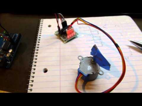 Arduino Blocks: Controlling A Unipolar Stepper Motor