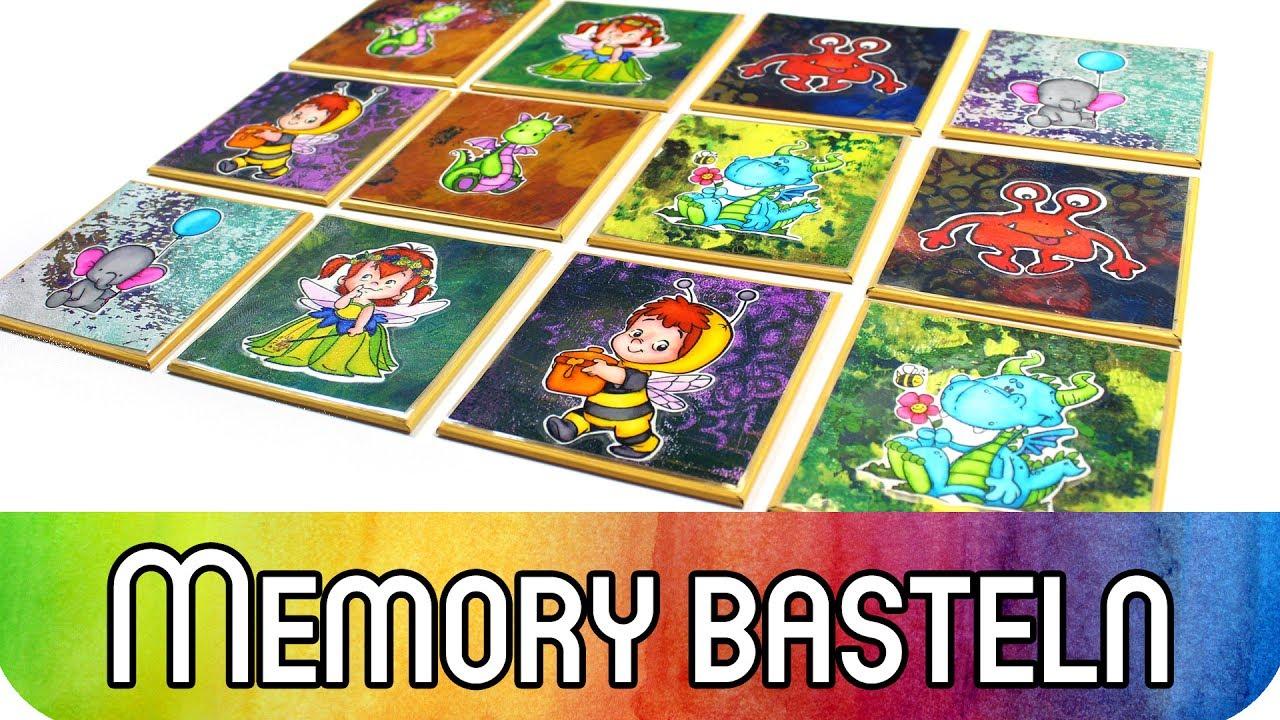 Howto: Memory Spiel Basteln Für Kleinkinder | Scrapbooking Idee Mit  Stempeln U0026 Gelli Plate