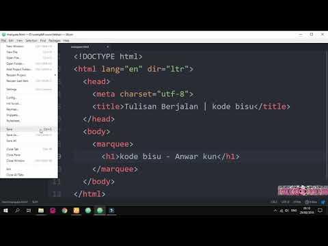 Cara Membuat Teks Berjalan di HTML..