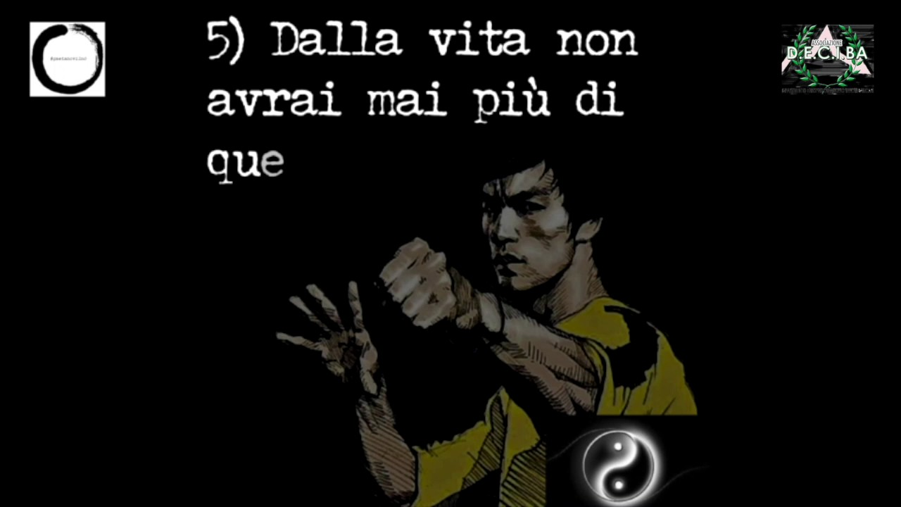 Bruce Lee Frasi Celebri Youtube
