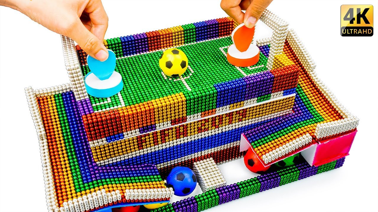 DIY - How To Build Fantasy Football Table Game With Magnetic Balls (Satisfaction) - Magnet Balls