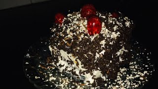 Bread black forest cake // black forest cake with bread