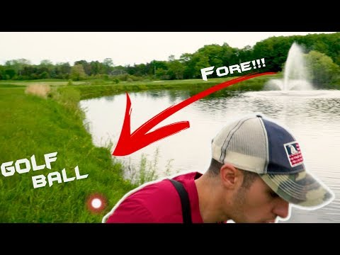 Fisherman Almost KNOCKED OUT By Golf Ball While Fishing!