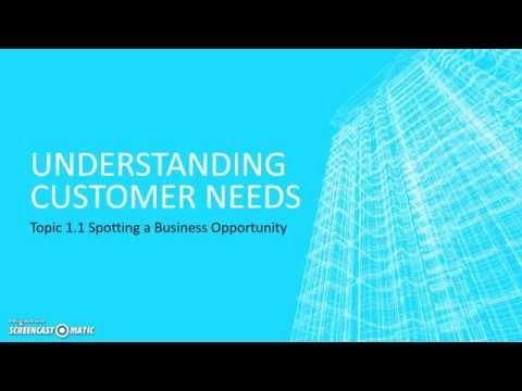 Edexcel GCSE Business - Understanding Customer Needs
