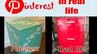 Pinterest In Real Life - Filing Cabinet Transformation