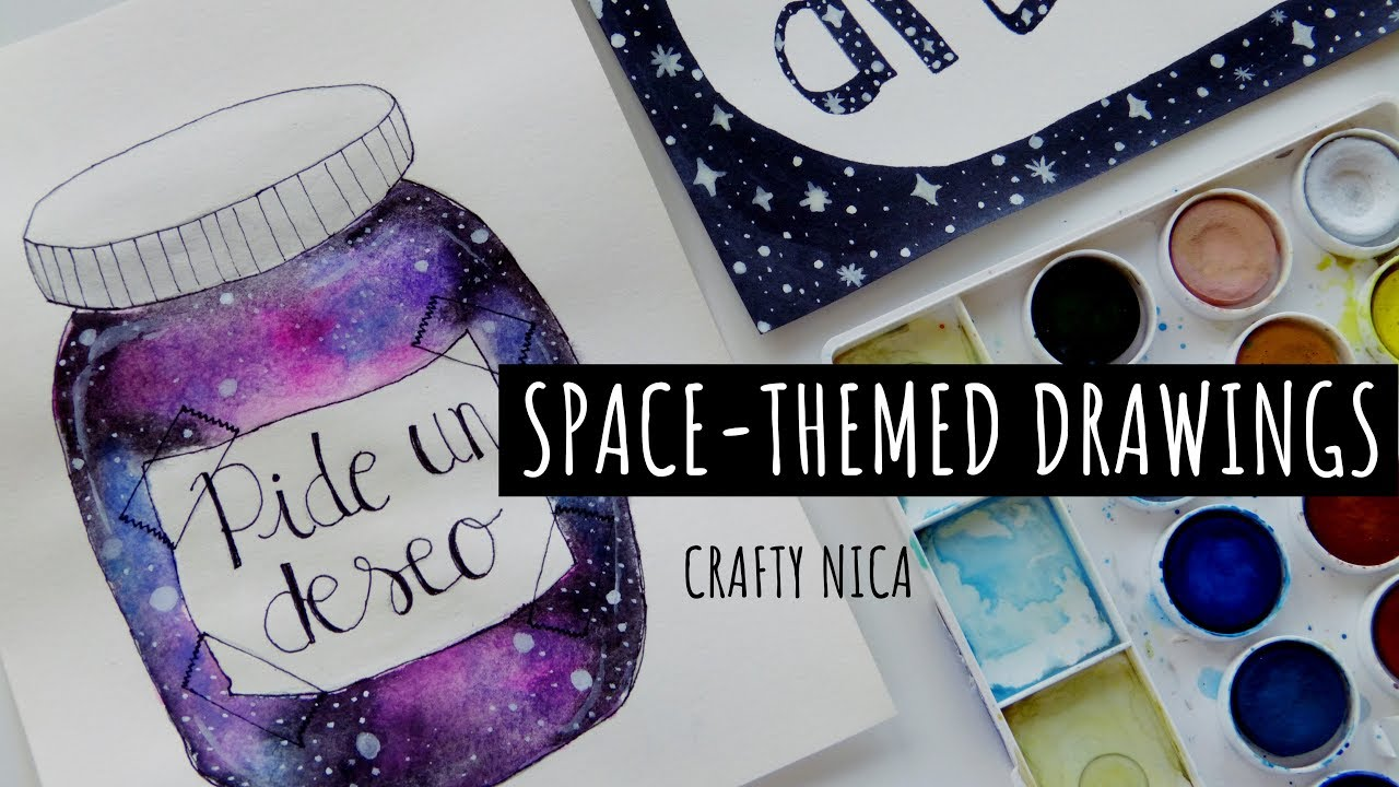 Diy glitter notebook cover - Diy Notebook Cover Ideas Space Themed Drawings