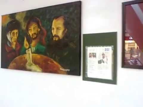 Painting exhibition at lulu shopping mall , cochin
