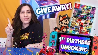 Nintendo Switch 1 Year Anniversary Giveaway & Unboxing! - JustJesss