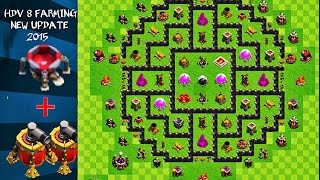 Clash of Clans ~ Hdv 9 farm MAJ juillet (2 propulseur d'air/Nouvelle défense 2015)