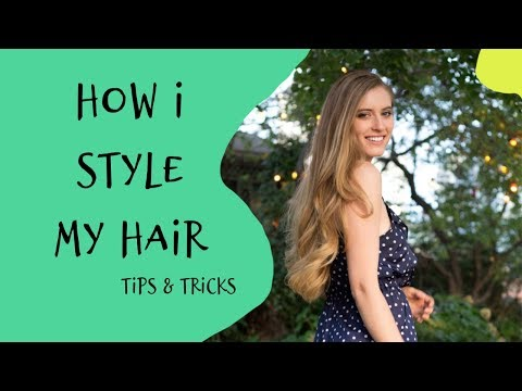 London Style Vlog - How I Style My Long Hair! Big Curls. Tips And Tricks For Hair!