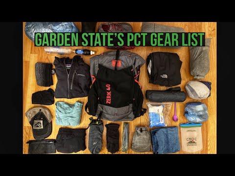 Garden State's PCT 2020 10lb Gear List