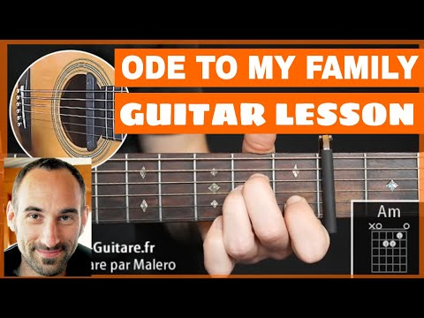 Ode To My Family Guitar Lesson - part 1 of 3
